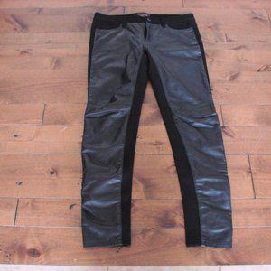 Danier Black Italian Leather High Rise Straight Legging Pant